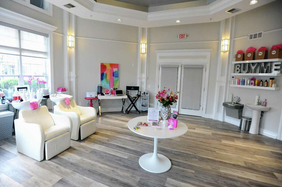 Newly opened Pink Soda hair salon, located at 500 Bedford St., features four stylist chairs and two hair washing stations. Photographed in downtown Stamford, Conn. on Wednesday, April 19, 2017.