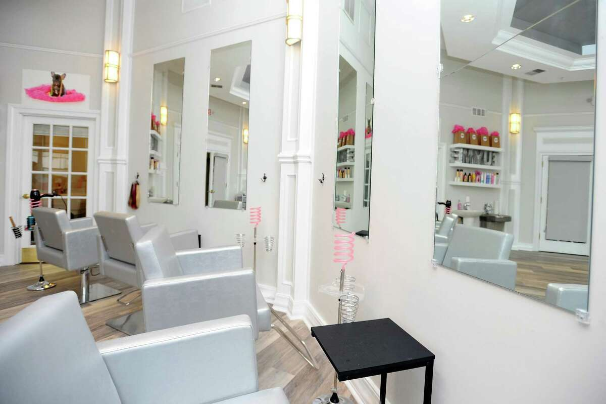 Newly opened Pink Soda hair salon, located at 500 Bedford St. in Stamford, features four stylist chairs and two hair washing stations. Photographed in downtown Stamford, Conn. on Wednesday, April 19, 2017.