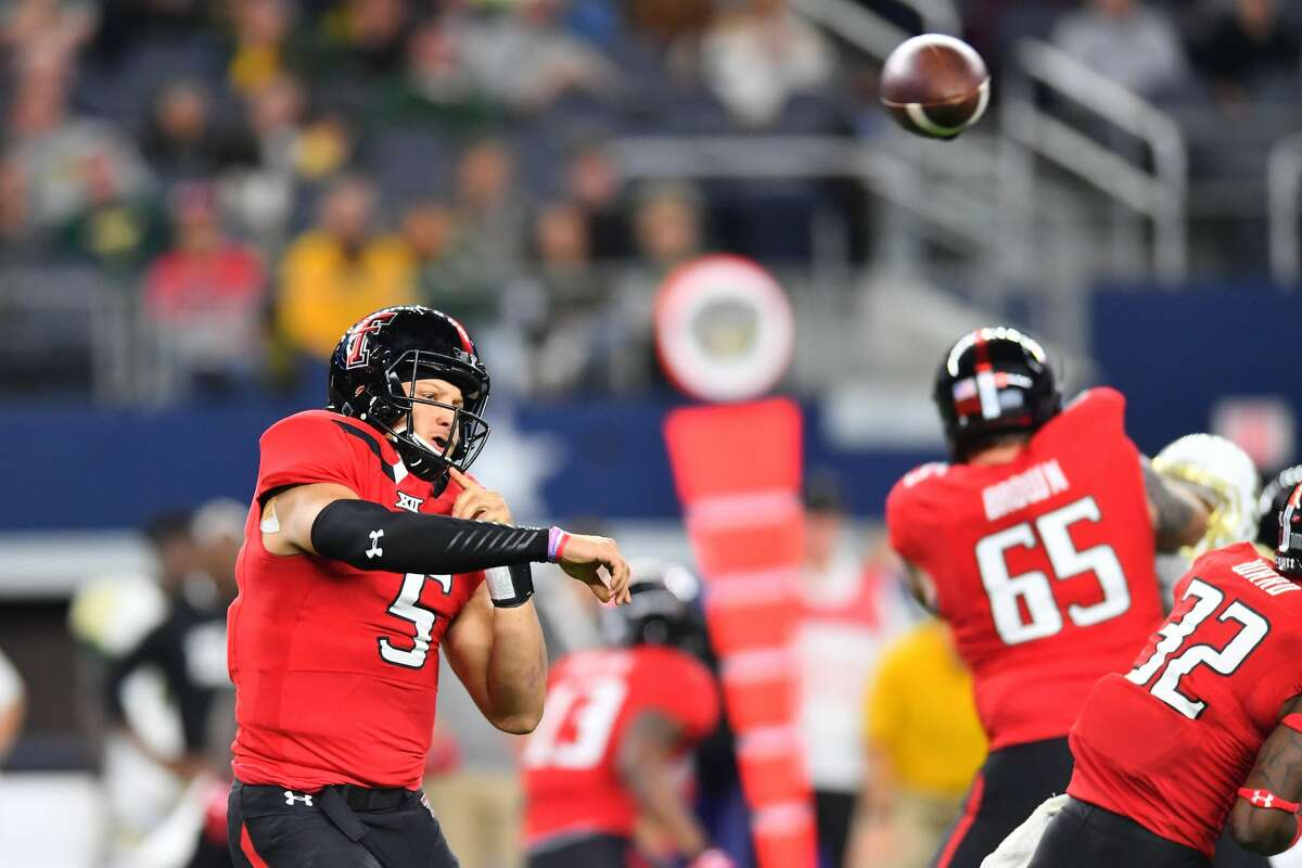 FIVE THINGS THE TEXANS MUST DO IN THIS DRAFT 1. Be in position to select a quarterback in the first round. For only the second time in his 11 drafts, general manager Rick Smith may have to trade up in the first round to get a quarterback coach Bill O'Brien wants. Texas Tech's Patrick Mahomes (above) may be a quarterback the Texans have their eyes on.