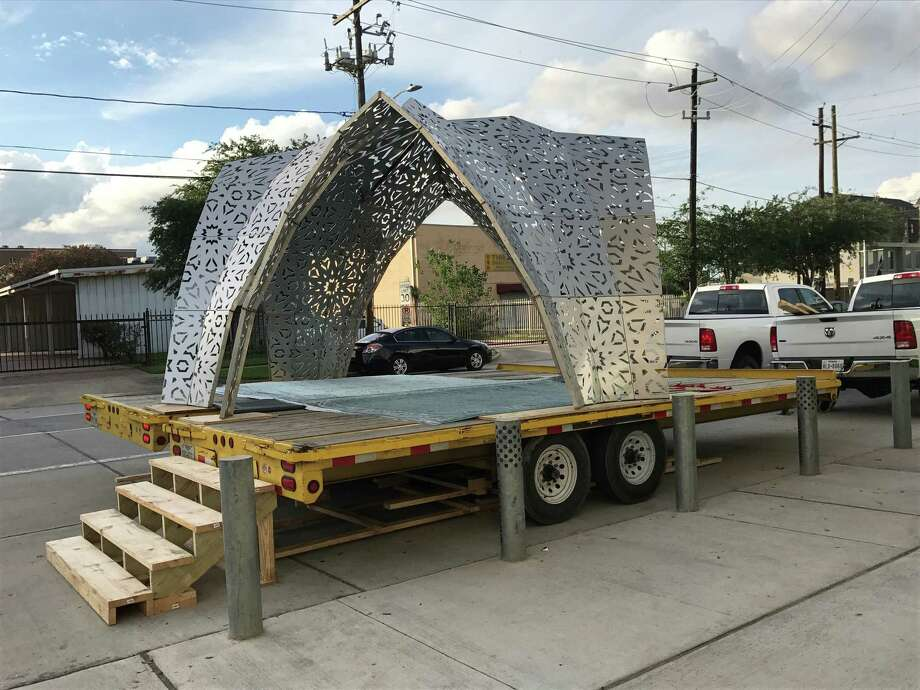 "Ghana Think Tank's ""Mobile Mosque"" is appearing at various sites, with live performances and programs, during CounterCurrent 2017. Photo: Molly Glentzer, Houston Chronicle"