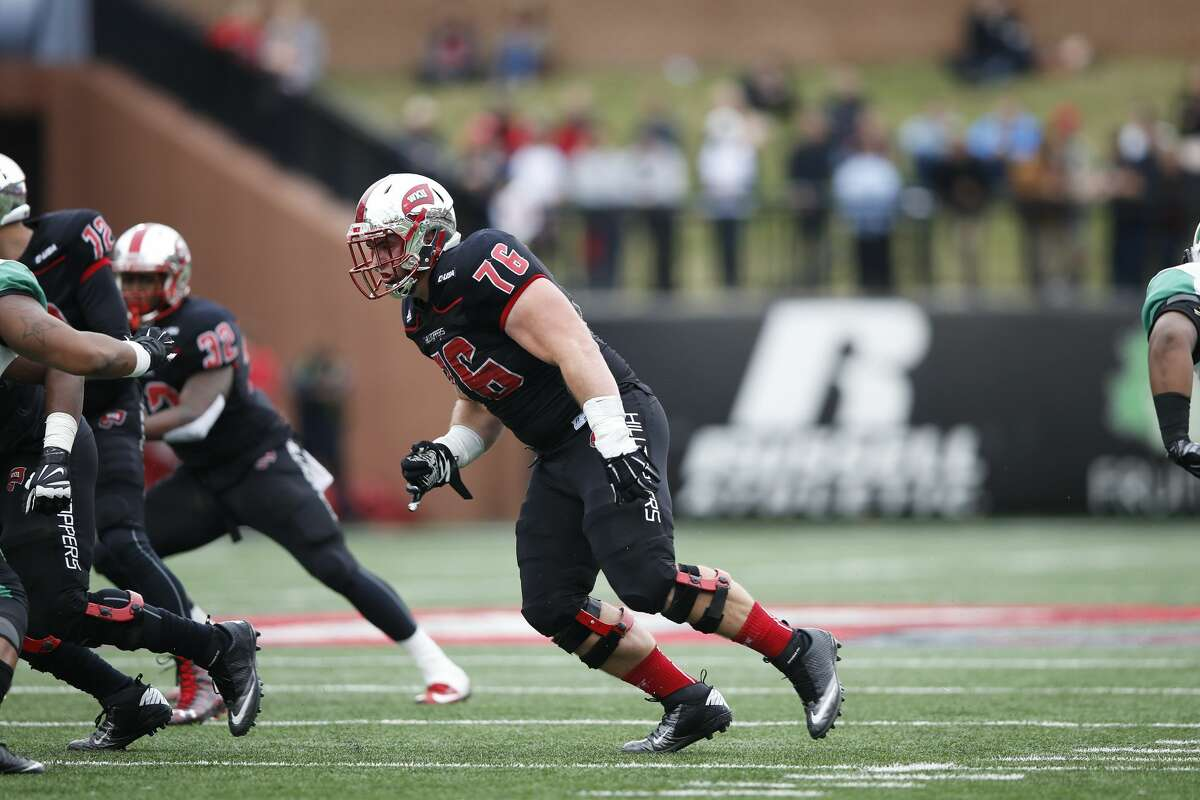 Forrest Lamp, T/G, 6-4, 309, 5.00, Western Kentucky A senior who started 51 games, including 48 at left tackle. Doesn't have the long arms scouts like and might be better at guard. Some teams like him at right tackle. Excelled against Alabama in 2016. Didn't allow a sack last season and only two pressures. Benched 225 pounds 34 times at combine. Great work ethic, team leader. Plays with a nasty disposition. Should go in the first round.