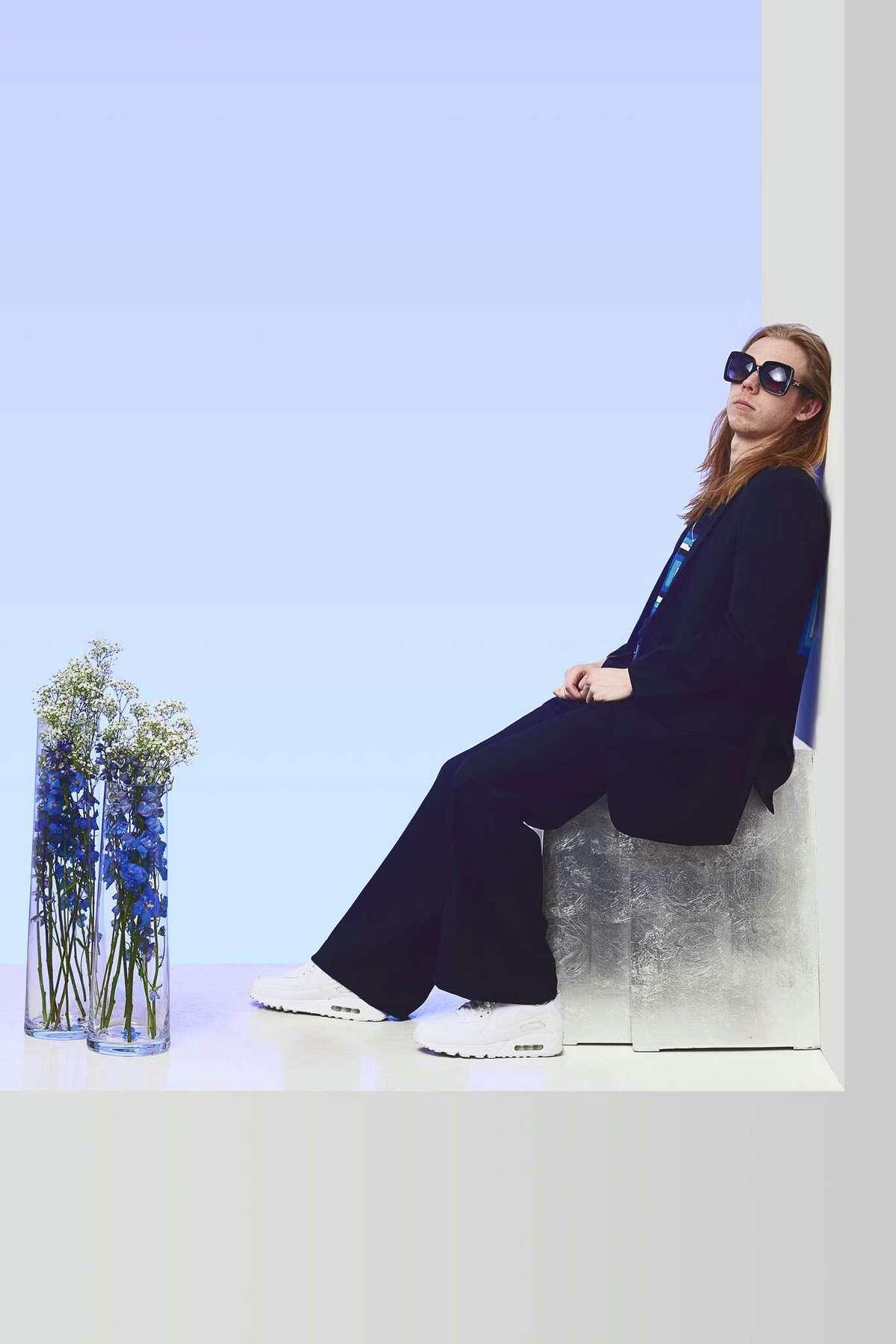 Houston designer Preston Boyer's In the Face of Fear collection for his Preston Douglas fashion line.