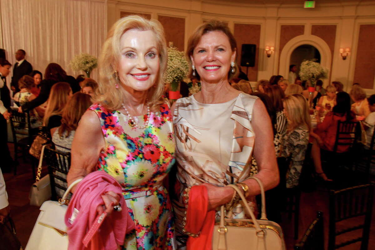 Pat Breen, left, and Anita O'Shaughnessy at the Salvation Army Luncheon and Fashion Show. (For the Chronicle/Gary Fountain, April 18, 2017)