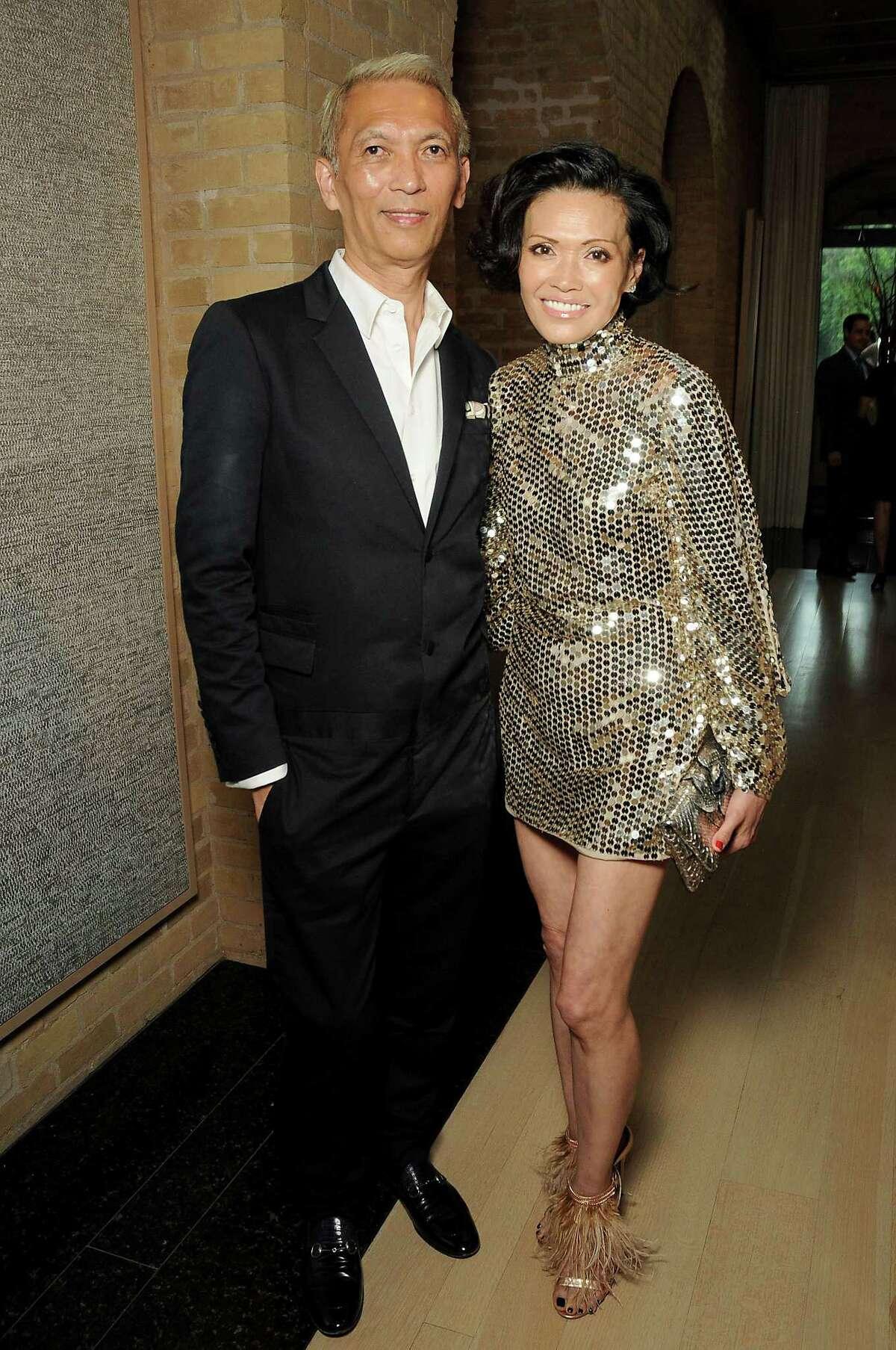 Left: Duyen and Marc Nguyen. Right: Hosts John Thrash and Becca Cason Thrash