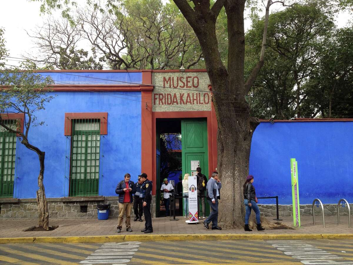 The Blue House in Coyoacan was the birth and death place of Frida Kahlo.