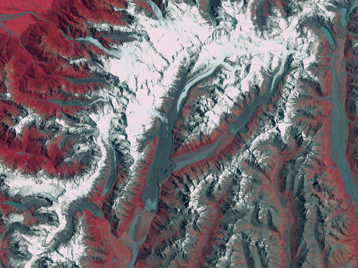 Before: Shrinking glaciers in New Zealand Date: January 12, 1990 Source: NASA