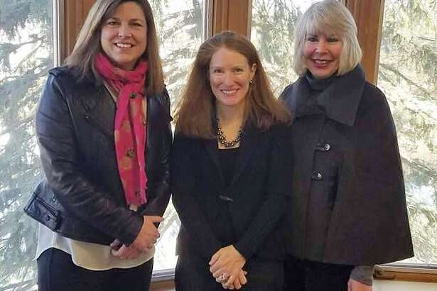 Gilman Hill Asset Management decided to become a sponsor for The Impact Vine, which was developed by The Community Fund of Darien. From left: Community Fund Executive Director Carrie Bernier, Gilman Hill Asset Management CEO Jenny Harrington and The Impact Vine Project Director Susan Serven.