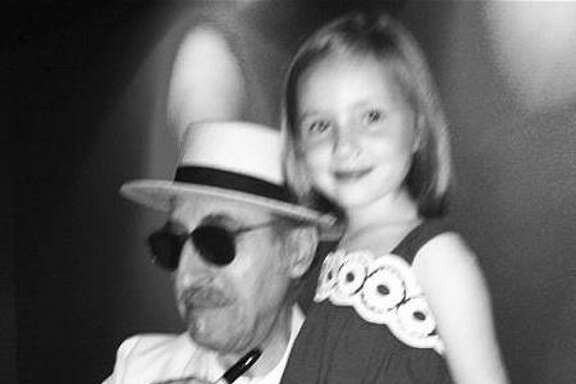 Above: Tom Petty's music has of late enchanted Hazel Britton Dansby. Right: Hazel hangs with Leon Redbone at McGonigel's Mucky Duck, circa 2012.