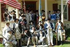Members of the Fifth New York Regiment, seen here with the Third Connecticut Regiment during a Memorial Day tribute at the Fishkill Supply Depot, will be among participants in the reenactment of the 1777 Battle of Ridgefield, on Saturday, April 29. The daylong event takes place on Main Street in Ridgefield, at places such as Ballard Park and Keeler Tavern. Folks from all areas of the East Coast Continental Line (www.continentalline.org) will participate.