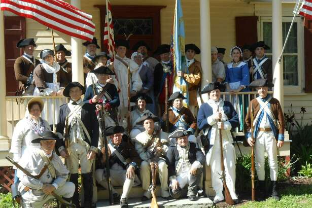 Members of the Fifth New York Regiment, seen here with the Sixth Connecticut Regiment during a Memorial Day tribute at the Fishkill Supply Depot, will be among participants in the reenactment of the 1777 Battle of Ridgefield, on Saturday, April 29. The daylong event takes place on Main Street in Ridgefield, at places such as Ballard Park and Keeler Tavern. Folks from all areas of the East Coast Continental Line (www.continentalline.org) will participate.