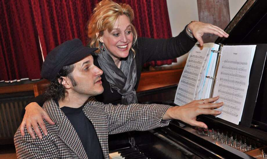 "Michele Grace works with Chris Coogan during a previous Connecticut Playmakers production. Grace will launch an original production, ""Hollywood Take 2"" this weekend, while Coogan will accompany with music. Photo: Jeff Wyant / Contributed Photo / Jeff Wyant"