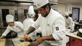 Culinary Arts sophomore Jose Lopez prepares his pie during a Fundamentals of Baking class Monday April 3 at St. Phillips College. Alamo Colleges is hoping to update these outdated and cramped facilities with a $450 million bond on the ballot in May. However, because of some accreditation problems with a few campuses that point to governance issues, voters should take a hard look.