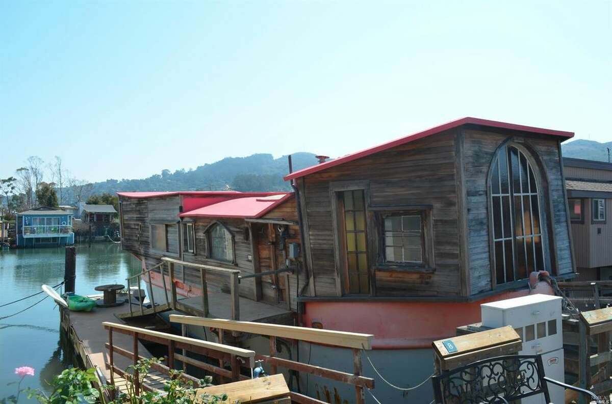 A houseboat at 8 Liberty Dock in Sausalito was listed for $390,000 in March 2017.
