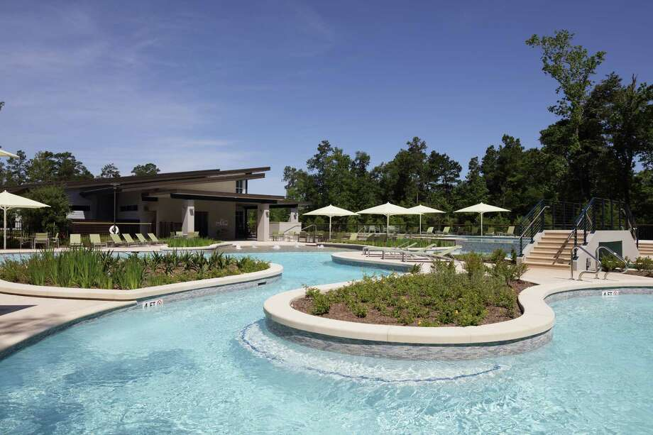 Woodson's Reserve offers a resort-style pool to enjoy during Houston's hot summer days.