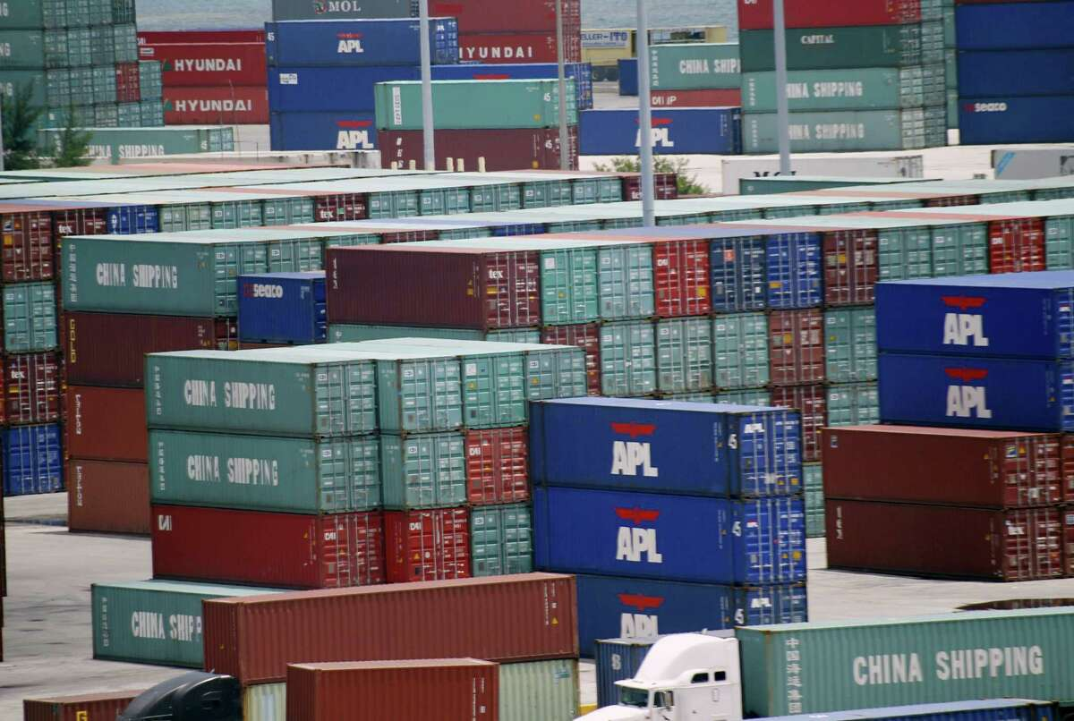 Shipping containers are stacked at the Port of Miami. The retail industry's top issue since President Donald Trump took office has been to defeat the border-adjusted tax that's central to House Speaker Paul Ryan's plan to overhaul the tax code.
