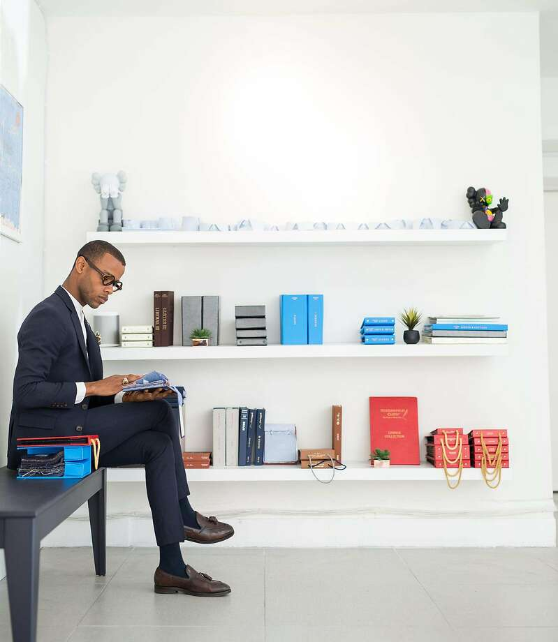Eison Triple Thread, a new menswear company founded by Julian Eison (pictured) in San Francisco that specializes in custom suiting, opened in late 2016. Photo: Triple Eison Thread