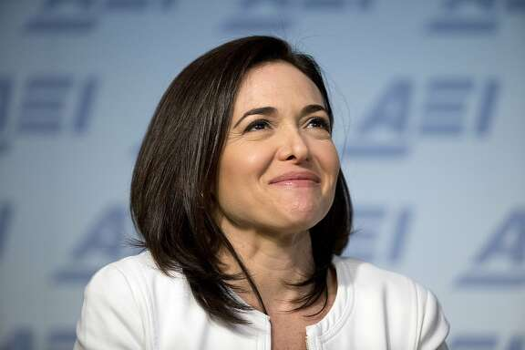 FILE - In this Wednesday, June 22, 2016, file photo, Facebook Chief Operating Officer Sheryl Sandberg speaks at the American Enterprise Institute, in Washington. Sandberg�s new book, �Option B: Facing Adversity, Building Resilience and Finding Joy,� recounts the death of her husband, her grief, and how she recovered from it. Written with psychologist Adam Grant, it also includes research and advice on how people can build up resilience not just after, but before traumatic events happen. (AP Photo/Alex Brandon, File)