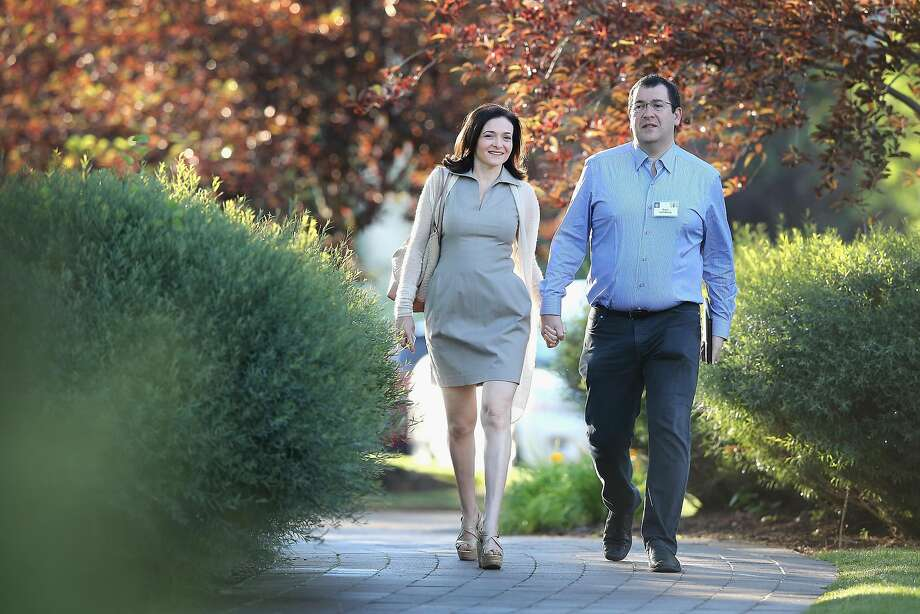 SUN VALLEY, ID - JULY 09:  Sheryl Sandberg, chief operating officer (COO) of Facebook, and her husband David Goldberg, CEO of SurveyMonkey, attend the Allen & Company Sun Valley Conference on July 9, 2014 in Sun Valley, Idaho. Many of the worlds wealthiest and most powerful businessmen from media, finance, and technology attend the annual week-long conference which is in its 32nd year.  (Photo by Scott Olson/Getty Images) Photo: Scott Olson, Getty Images