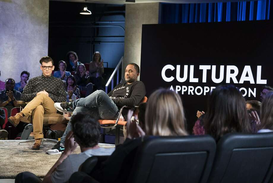 """Moshe Kasher hosts """"Problematic,"""" a new series on Comedy Central. The first show, on  cultural appropriation, features a thoughtful discussion with """"Black-ish"""" creator Kenya Barris. Photo: Ali Goldstein, Courtesy Comedy Central"""