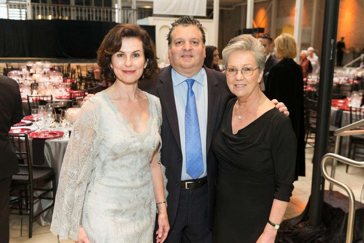 Smuin Artistic Director Celia Fushille with Gala Co-chairs John Konstin and Patti Hume at Smuin's Annual Gala held March 19, 2017 at The Galleria.