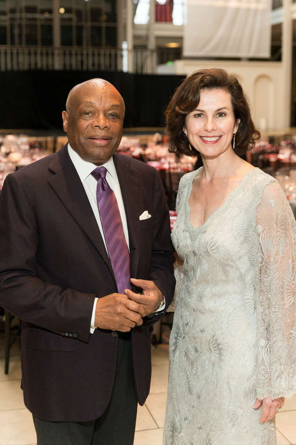 Former San Francisco Mayor Willie Brown and Smuin Artistic Director Celia Fushille at Smuin's Annual Gala held March 19, 2017 at The Galleria.