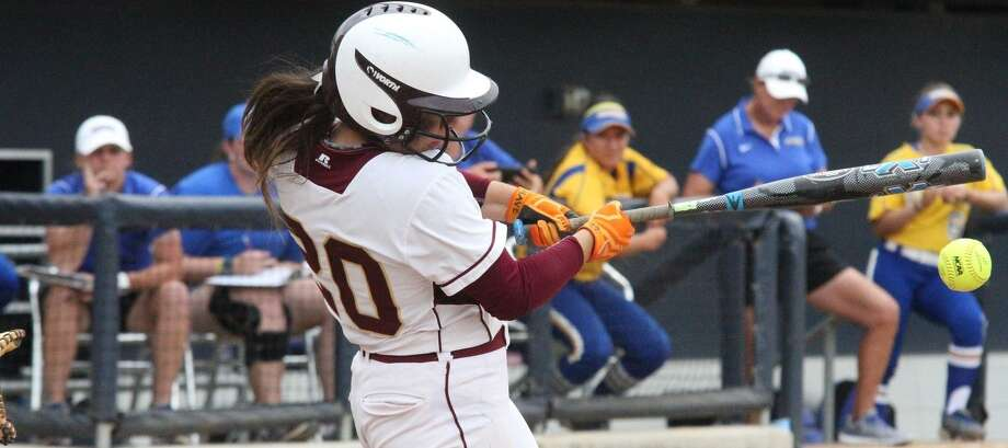 Erika Sanchez had six hits, five RBIs and two runs scored in TAMIU's doubleheader win at Oklahoma Panhandle State Friday. The Dustdevils won 12-1 and 7-4 over the last-place Aggies. Photo: Courtesy Of TAMIU Athletics, File /