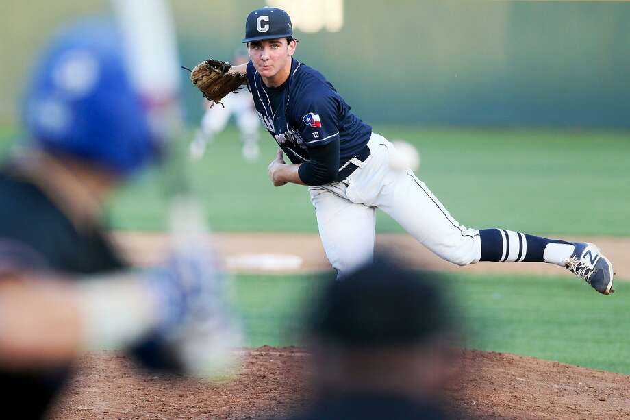 Boerne Champion and A&M commit Chris Weber is team's ace with an 8-1 record, and he ranks 11th in his class of almost 400. Photo: Marvin Pfeiffer / San Antonio Express-News / Express-News 2017