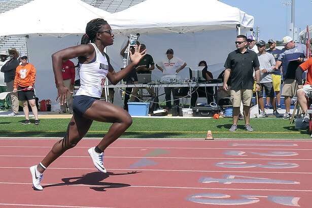 Alexander's Cynthia Emeremnu shined at the Area 29-30 track and field meet on Friday at the SAC winning three events. 40 total athletes from Laredo advanced to the regional meet next week.