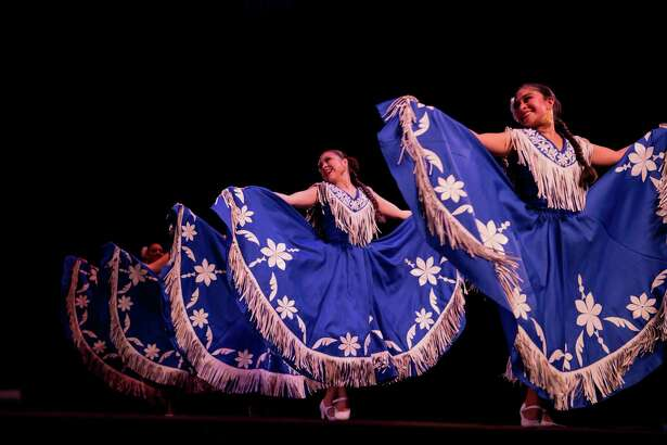 The Guadalupe Dance Company was featured in Friday night's San Antonio Symphony Fiesta Pops concert at the Tobin Center for the Performing Arts.