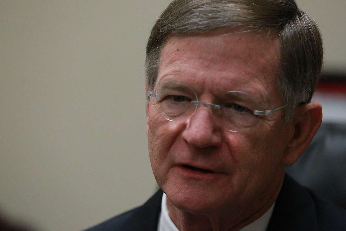 """Congressman Lamar Smith speaks Tuesday January 21, 2014 at a news conference held at his office. Smith made remarks about the hacking vulnerability of the healthcare.gov website and the Environmental Protection Agency's use of secret data. """"I am very suspicious of the Environmental Protection Agency,"""" Smith said."""