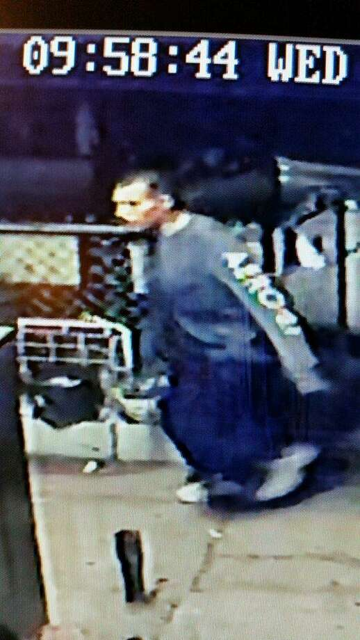 This video still shows the suspect who allegedly stole a compressor from a local residence. Photo: Courtesy