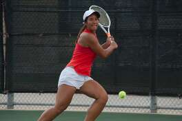 Megan Flores of Clear Lake earned a silver medal at the Region III-6A tennis tournament last week to earn a state tournament berth.