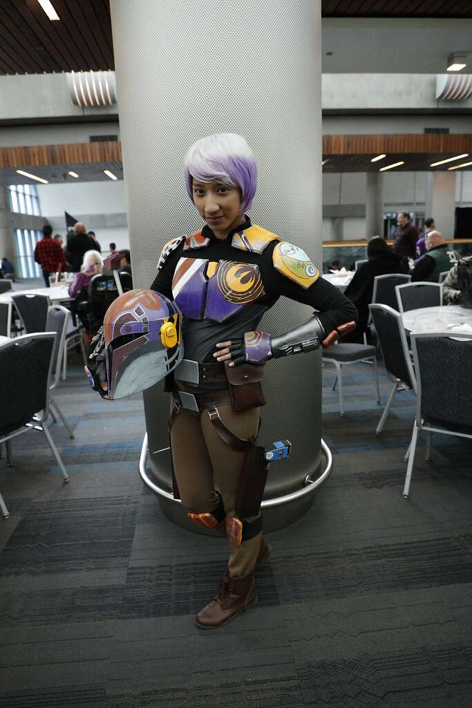 Sabrine Wren In Her Hand Painted Costume At Silicon Valley Comic Con On Saturday April