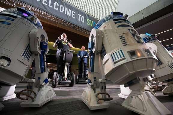 Steve Wozniak opens day two of Silicon Valley Comic Con at Santa Clara Comic Con on Saturday, April 22, 2017 in San Jose , CA.
