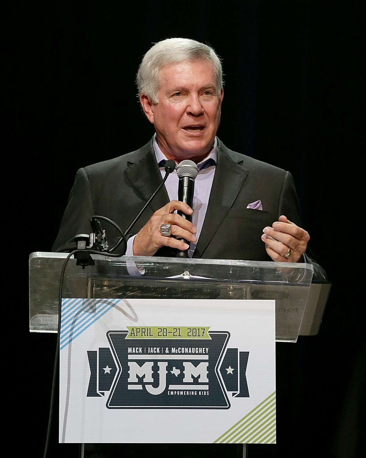 Mack Brown attends the Mack, Jack & McConaughey Gala benefit at ACL-Live on April 20, 2017 in Austin, Texas.