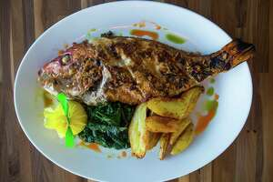 The Whole Gulf Red Snapper at the new restaurant Starfish Coastal Bar & Kitchen, Wednesday, April 19, 2017, in Houston.