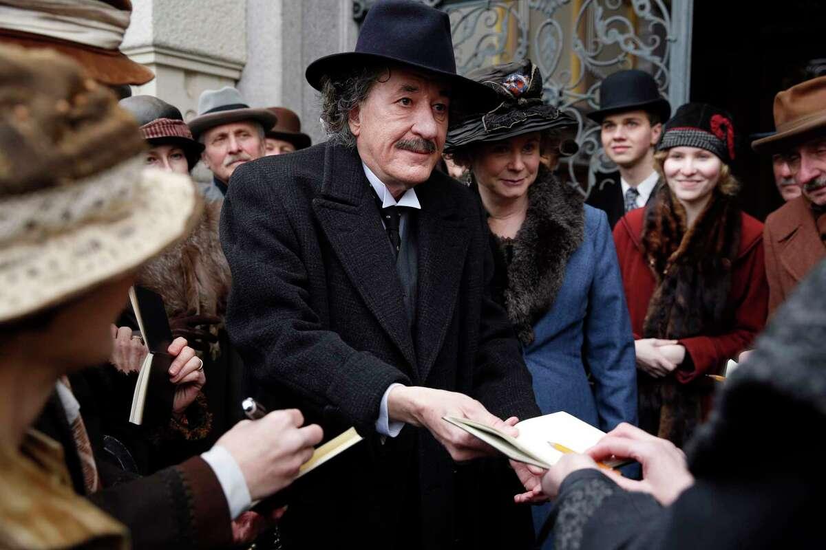 Geoffrey Rush plays the older version of Albert Einstein in