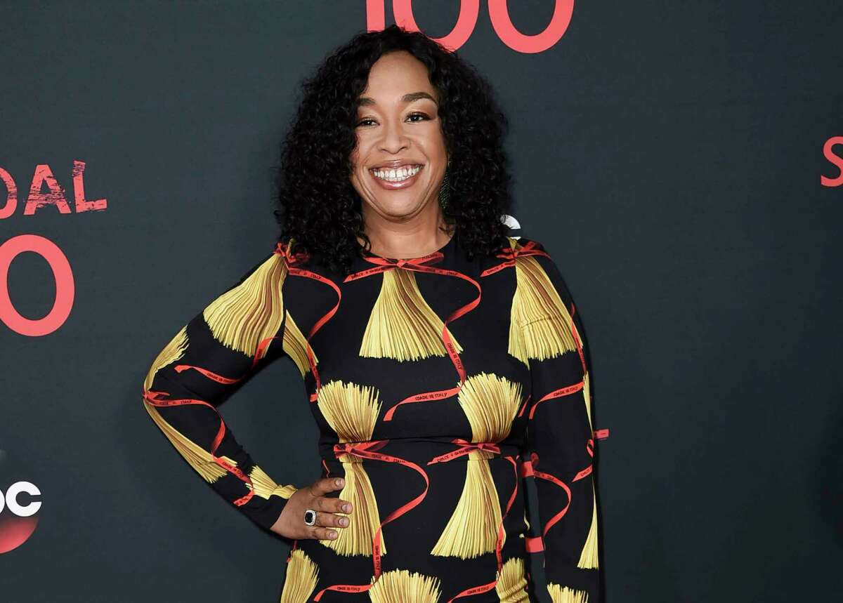 FILE - In this April 8, 2017 file photo, Shonda Rhimes attends the