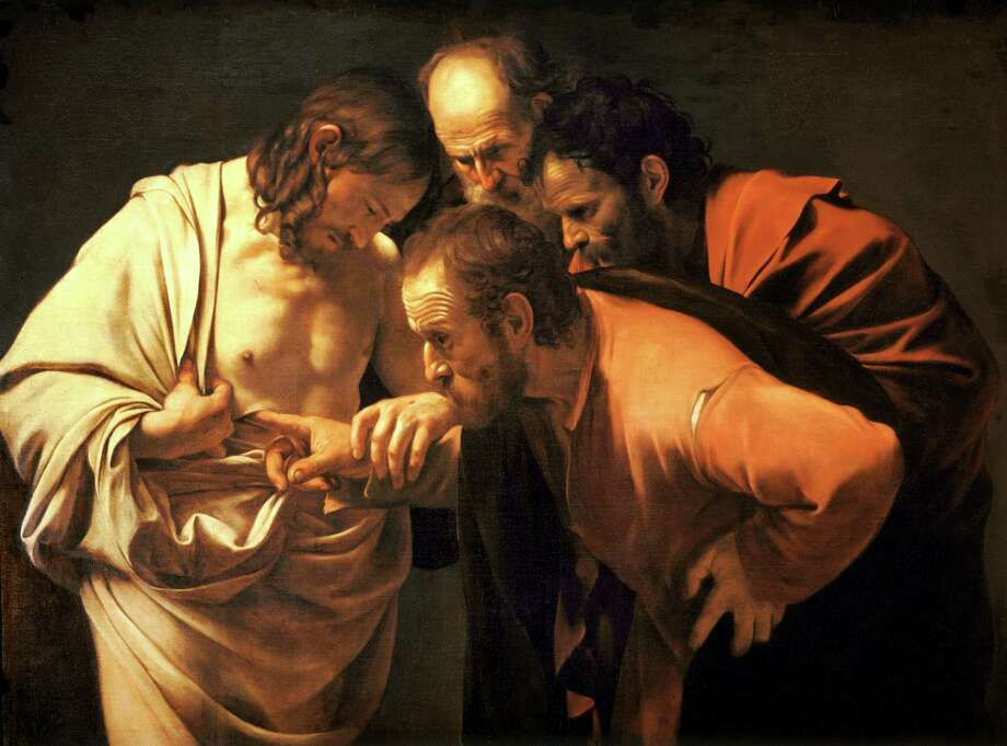 """The Incredulity of Saint Thomas"" byMichelangelo Merisi da Caravaggio Photo: Caravaggio/Wikimedia Commons"