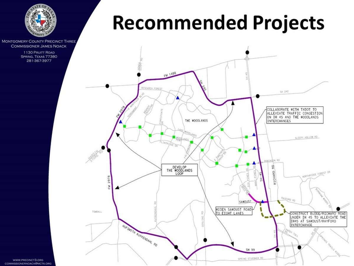 Following a traffic study of vehicles traveling in and around The Woodlands, a loop concept has been recommended to the city to help divert traffic from cutting through The Woodlands.