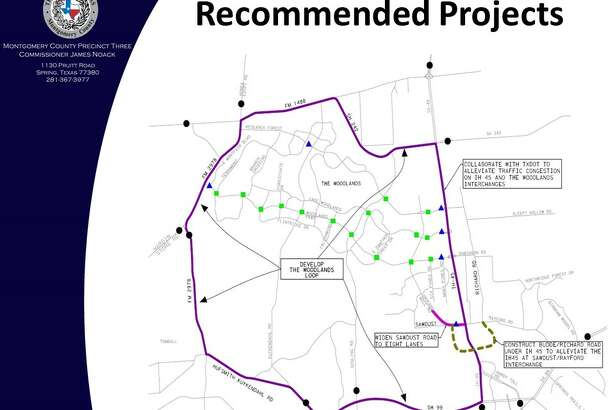 Brown & Gay Engineers, which was commissioned by the Montgomery County Precinct 3 Commissioner's Office and Woodlands Road Utility District No. 1 to conduct an origin-destination traffic study of vehicles traveling in and around The Woodlands, has recommended a loop concept to help divert traffic from cutting through The Woodlands.