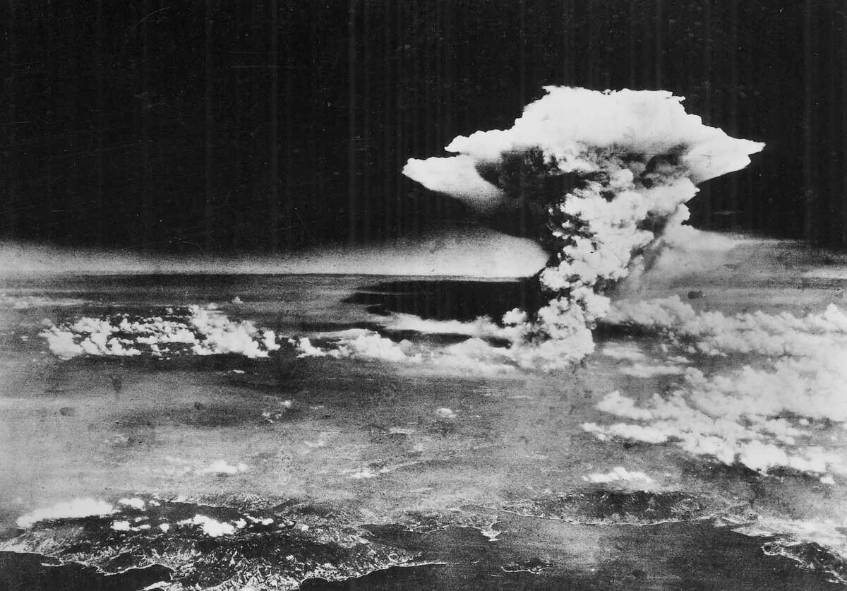 In this Monday, Aug. 6, 1945 picture made available by the U.S. Army via the Hiroshima Peace Memorial Museum, a mushroom cloud billows into the sky about one hour after an atomic bomb was detonated above Hiroshima, Japan. A movement is growing worldwide to abolish nuclear weapons, encouraged by President Barack Obama's endorsement of that goal. But