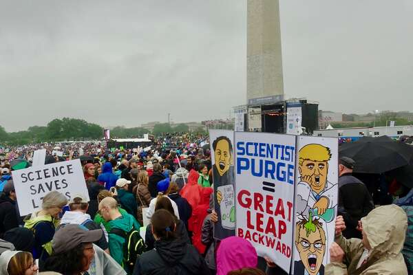 A scene from the March for Science in Washington D.C. on Saturday, April 22, 2017.