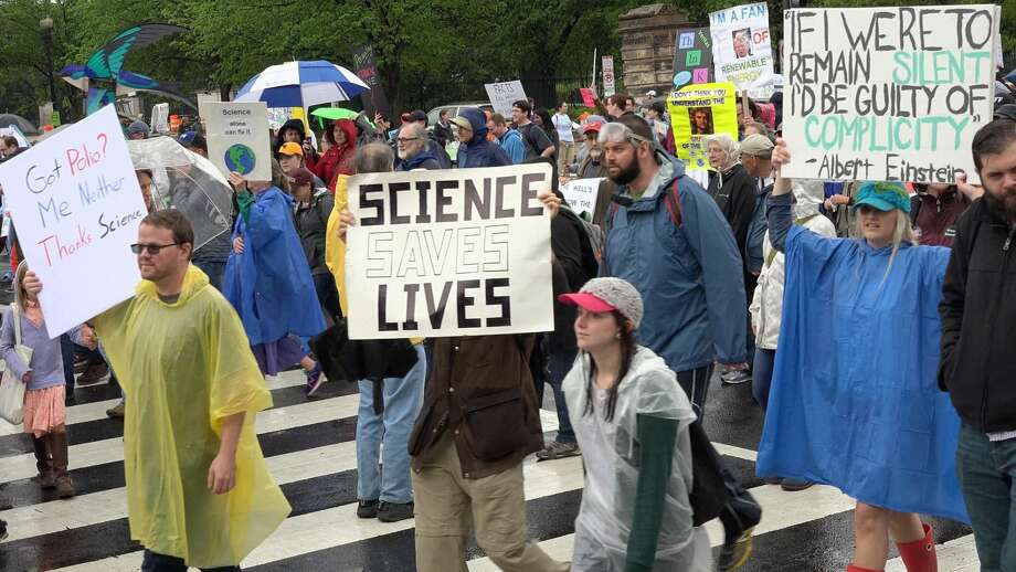 A scene from the March for Science in Washington D.C. on Saturday, April 22, 2017. Photo: JAKE ELLISON/SPECIAL TO SEATTLEPI.COM