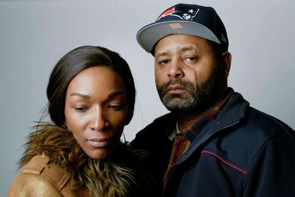 Vebra Moore, left, and her fiance', James Steele of Schenectady seen here on Wednesday, March 22, 2017, in Colonie, N.Y.   (Paul Buckowski / Times Union)