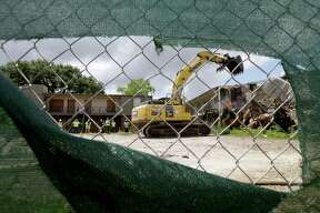 Crestmont Village, which became a symbol of Houston's absentee slumlord crisis in 2015, was demolished on Saturday.
