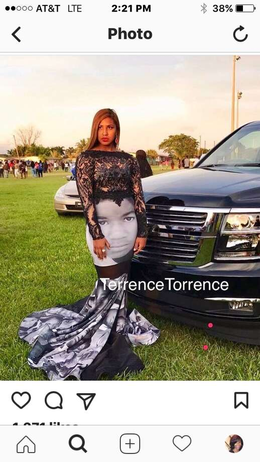 Teen wears prom dress honoring Trayvon Martin, Sandra Bland, others ...