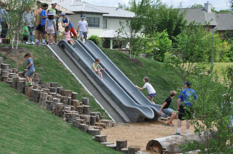 Evelyn's Park opened in Bellaire on Saturday, April 22. Photo: Melissa Aguilar