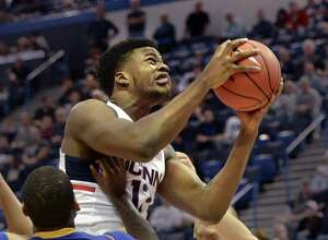 Former UConn center Steven Enoch is transferring to Louisville, according to multiple media reports.