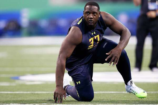 Alabama offensive lineman Cam Robinson could be an intriguing option in the first round if the Texans don't decide to address the quarterback position.